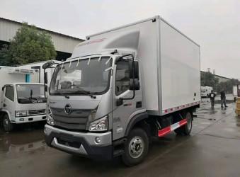 厢式车厂家蓝牌大容积冷藏车-福田载重21方冷藏车